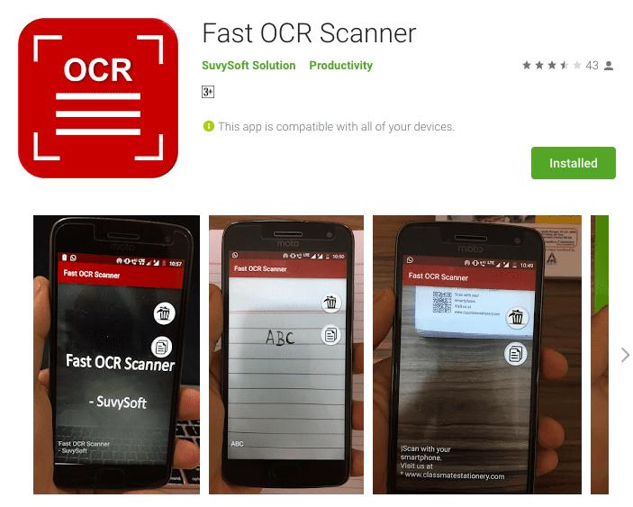 Fast OCR Scanner